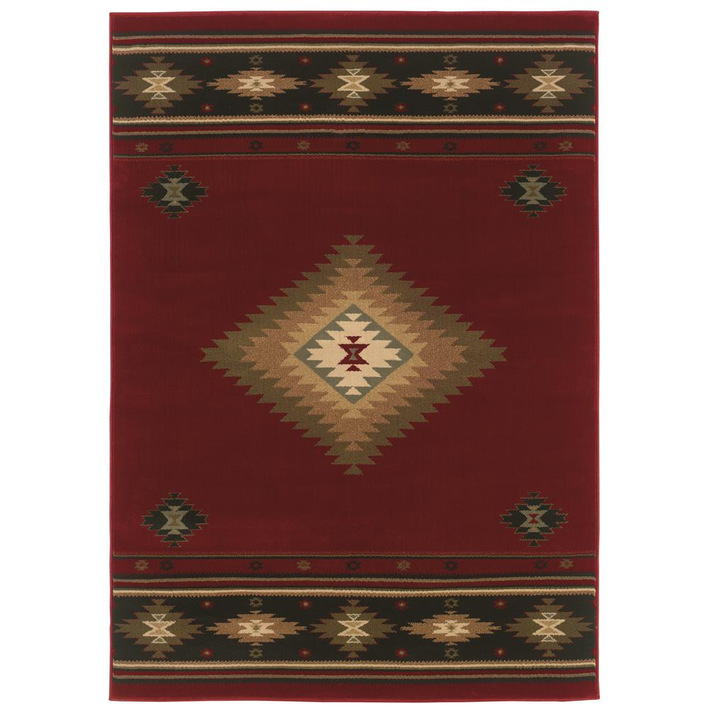 Oriental Weavers 087K1 Hudson Red 1.10 X  3. 3 Area Rug