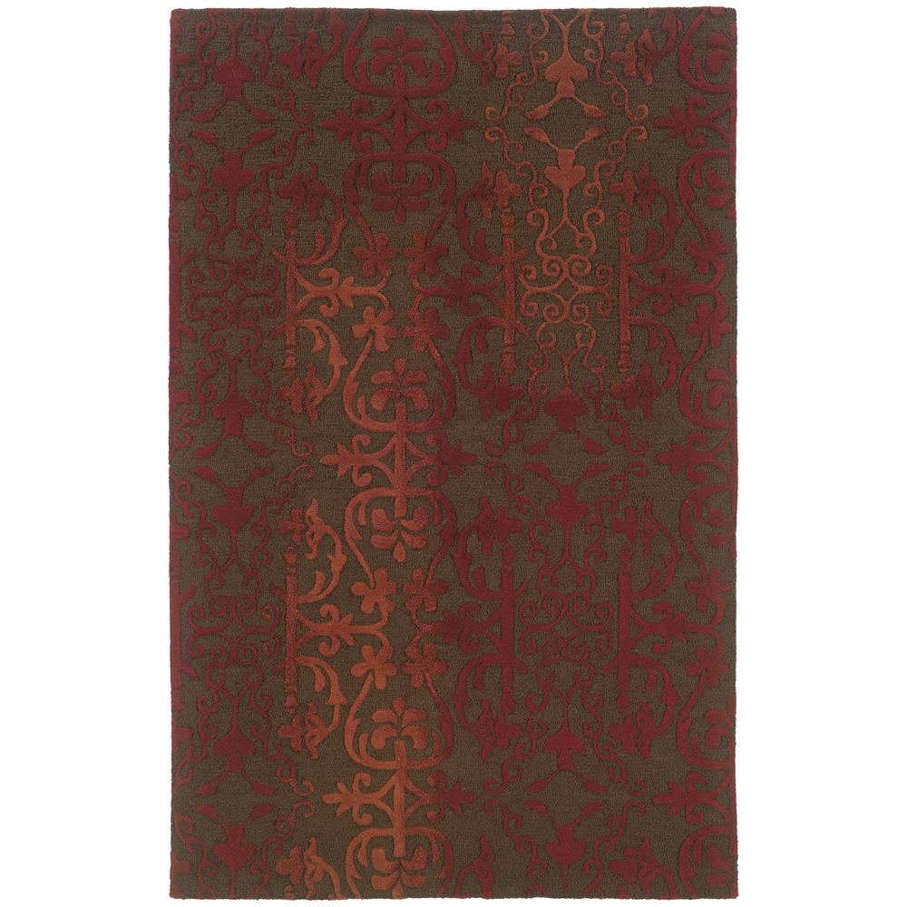 Oriental Weavers 18101 Ventura Brown 2. 6 X  8. 0 Area Rug