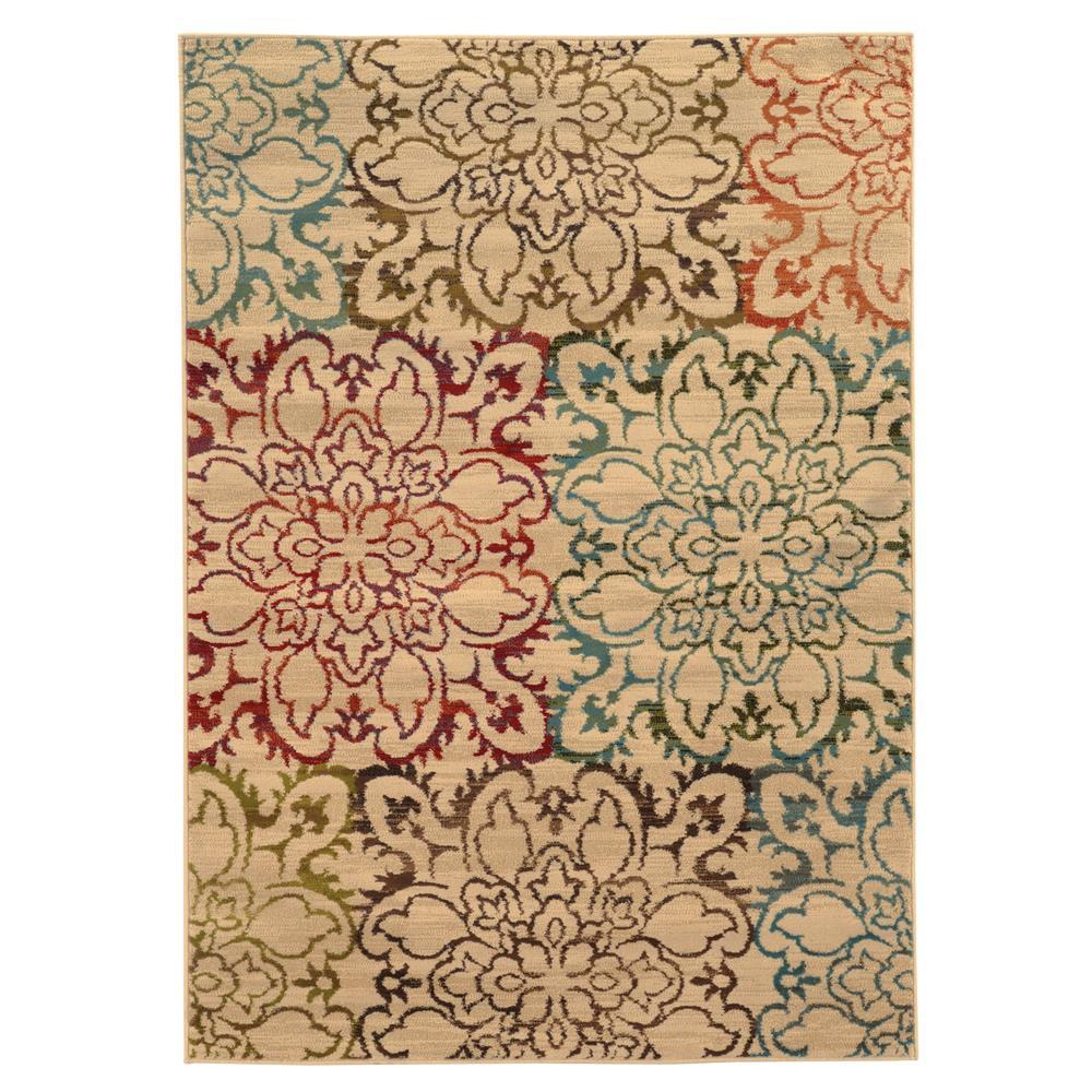 Oriental Weavers 4872A Emerson Ivory 1.10 X  3. 3 Area Rug