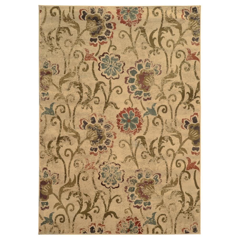 Oriental Weavers 4877B Hudson Ivory 1.10 X  3. 3 Area Rug
