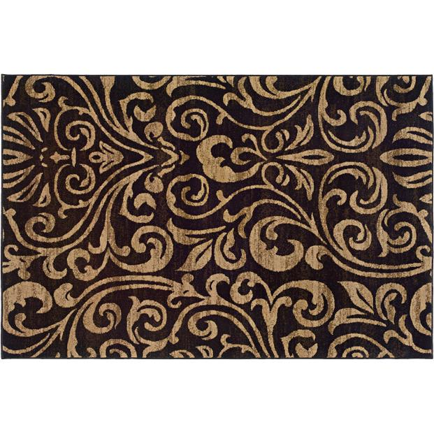 Oriental Weavers Sphinx 2033C-1'10X3'3 Emerson Black/ Gold Area Rug