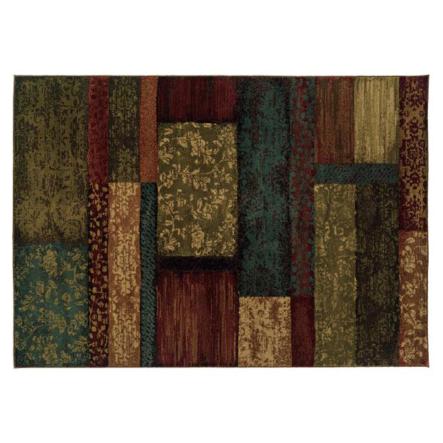 Oriental Weavers Sphinx 2480C-1'10X3'3 Emerson Brown/ Teal Area Rug