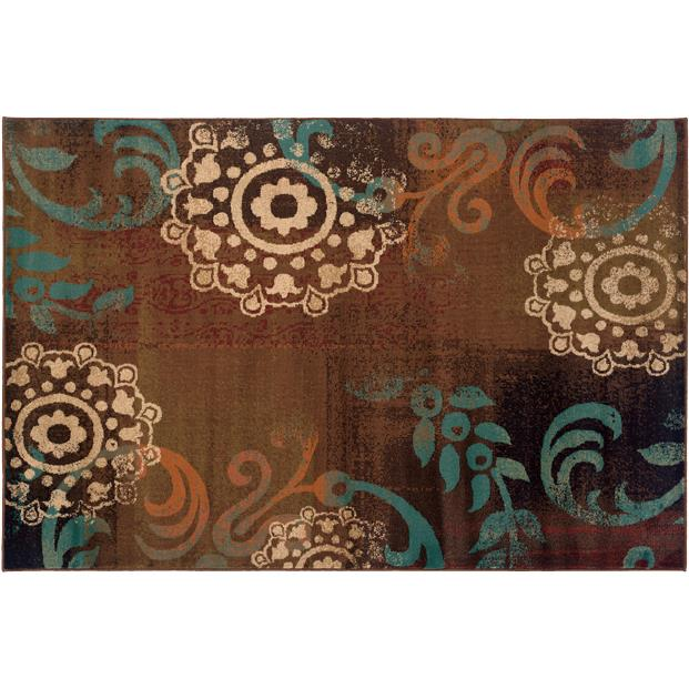 Oriental Weavers Sphinx 2822A-1'10X3'3 Emerson Brown/ Blue Area Rug