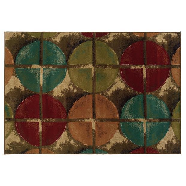 Oriental Weavers Sphinx 3680B-1'10X3'3 Emerson Brown/ Teal Area Rug