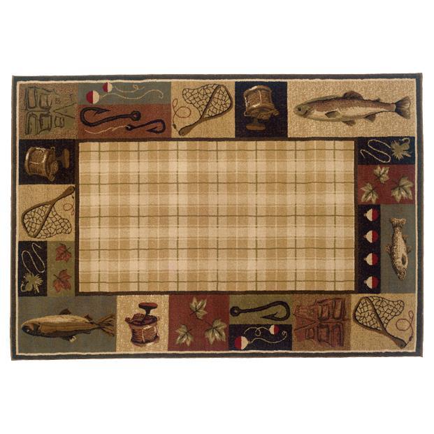 Oriental Weavers Sphinx 1065B-1'10X3'3 Hudson Beige/ Black Area Rug