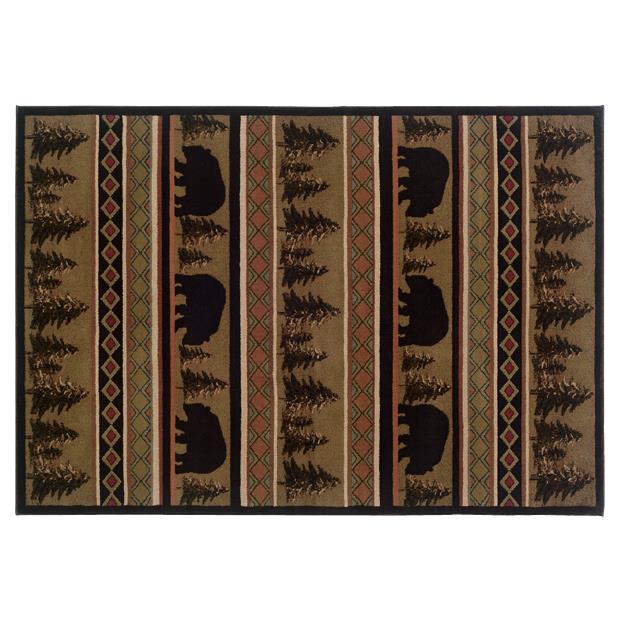Oriental Weavers Sphinx 1066A-1'10X3'3 Hudson Black/ Beige Area Rug