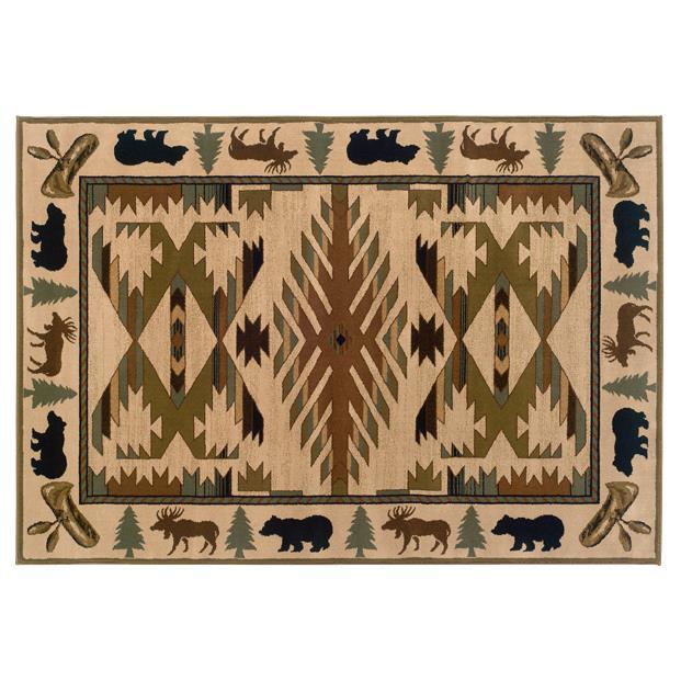Oriental Weavers Sphinx 1072A-1'10X3'3 Hudson Ivory/ Green Area Rug