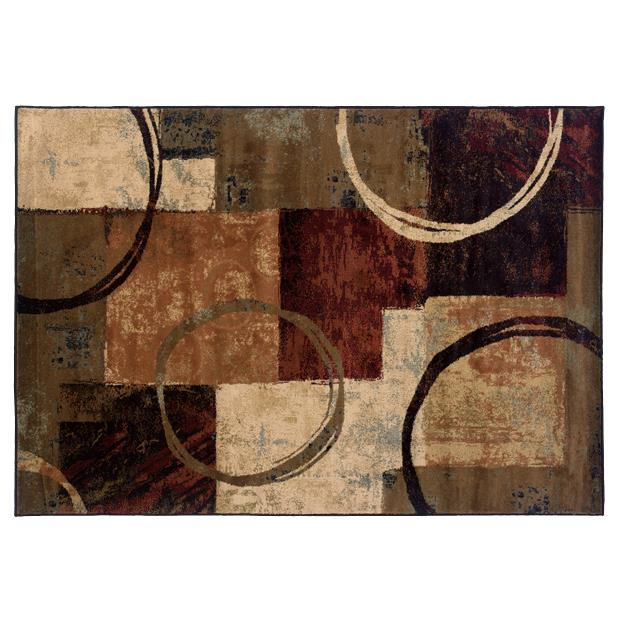 Oriental Weavers Sphinx 2544B-1'10X3'3 Hudson Brown/ Black Area Rug
