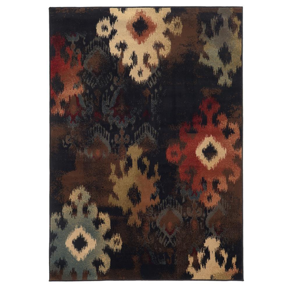 Oriental Weavers Sphinx 4874B-1'10X3'3 Hudson Black/ Brown Area Rug