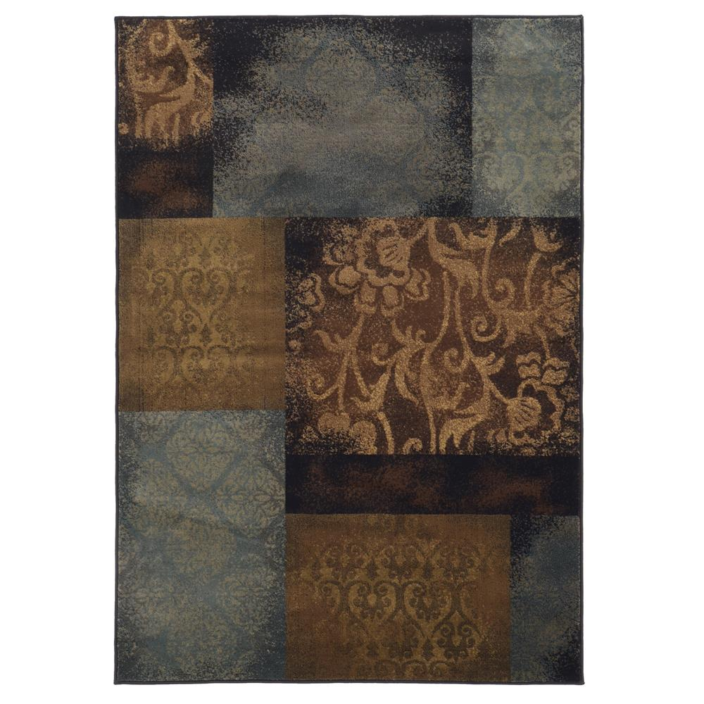 Oriental Weavers Sphinx 4878B-1'10X3'3 Hudson Blue/ Brown Area Rug