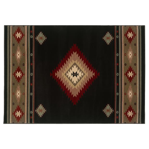 Oriental Weavers Sphinx 087G1-1'10X3'3 Hudson Black/ Green Area Rug