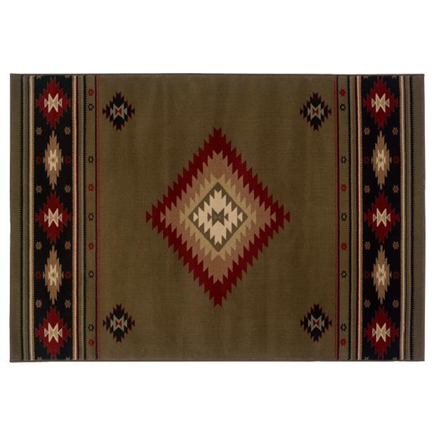 Oriental Weavers Sphinx 087J1-1'10X3'3 Hudson Green/ Red Area Rug