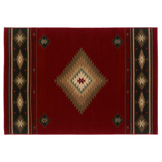 Oriental Weavers Sphinx 087K1-1'10X3'3 Hudson Red/ Green Area Rug