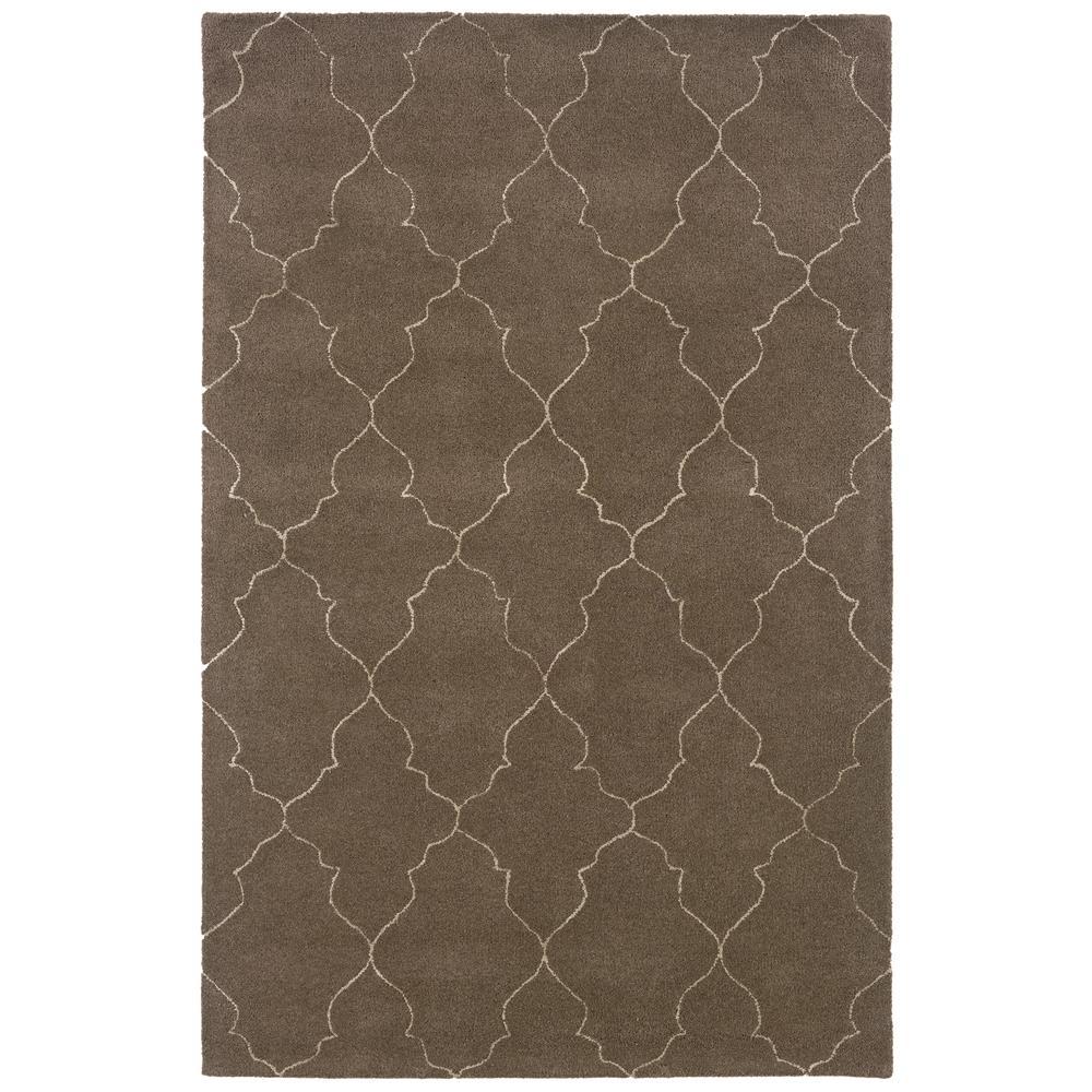 Oriental Weavers Sphinx 48102-2'6'X8' Silhouette Grey/ Beige Area Rug