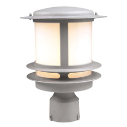 PLC Lighting  1 Light Outdoor Post Light Tusk 1896 BK
