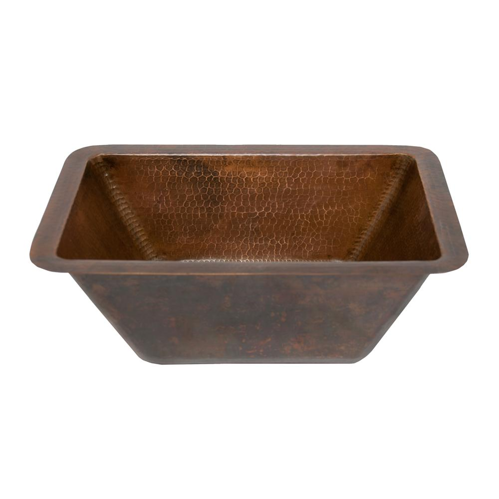 Premier Copper LRECDB Rectangle Hammered Copper Bathroom Sink