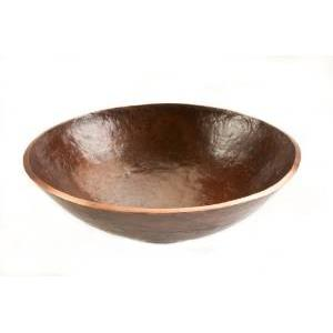 Premier Copper PV16RDB Round Hand Forged Old World Copper Vessel Sink