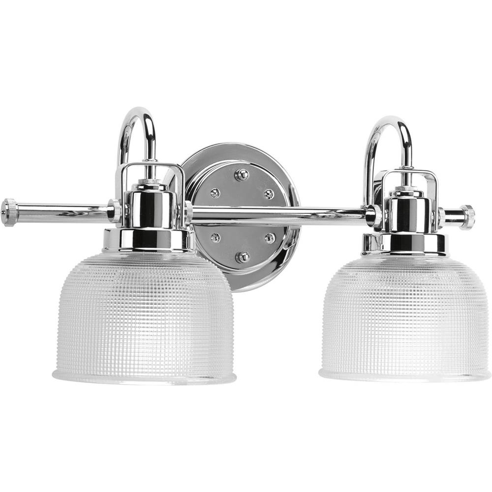 Progress Lighting P2991-15 Archie 2-Lt. Bath Fixture in Chrome