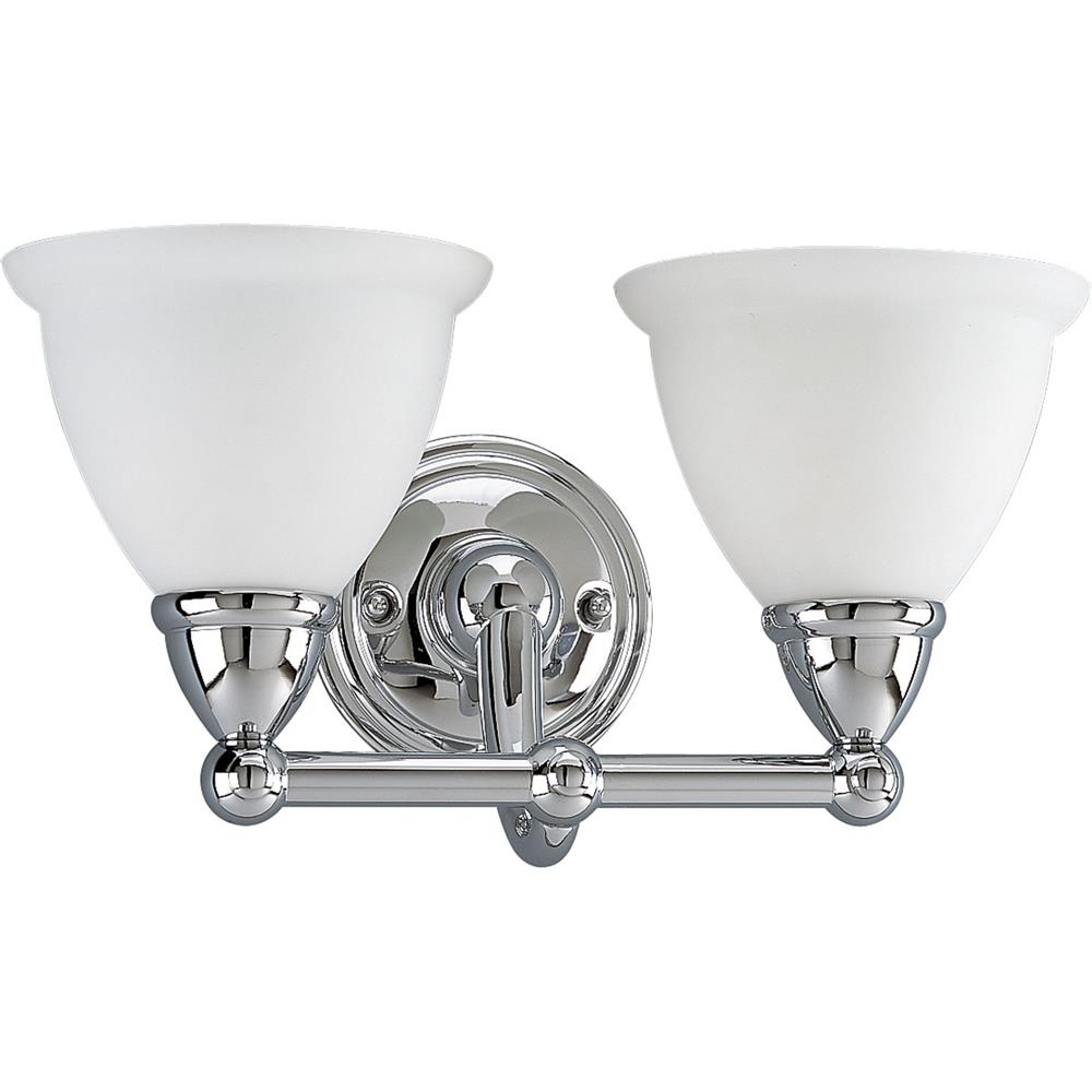 P3107 15 Progress Lighting Delta P3107 15 Botanical 2 Lt Bath Fixture In Chrome Delta Bath