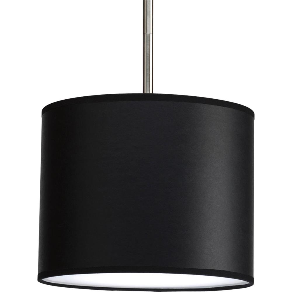 "Progress Lighting P8820-01 Markor 10"" Drum Shade Modular Pendant System in Black Parchment"