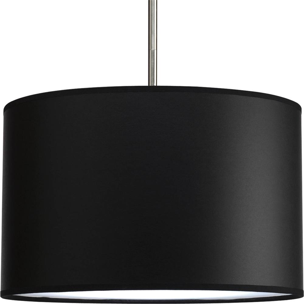"Progress Lighting P8822-01 Markor 16"" Drum Shade Modular Pendant System in Black Parchment"
