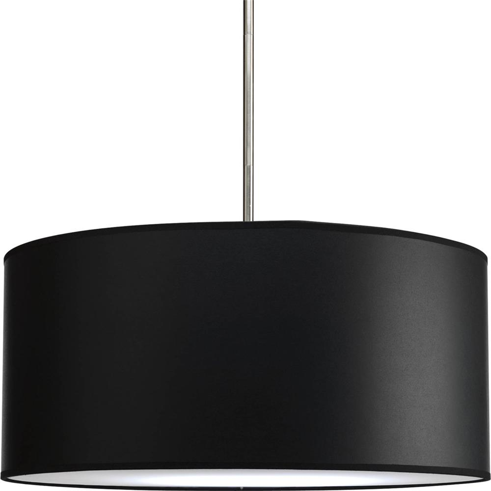 "Progress Lighting P8824-01 Markor 22"" Drum Shade Modular Pendant System in Black Parchment"