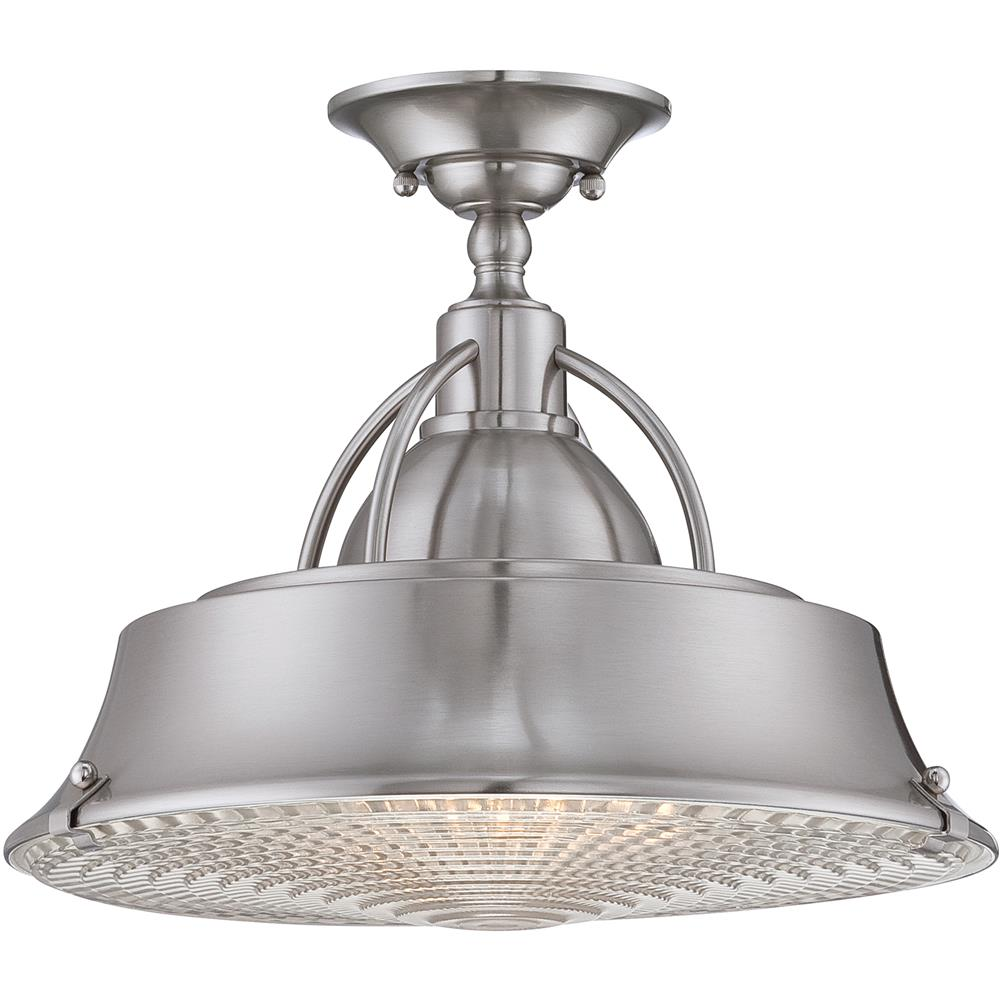 Quoizel Lighting CDY1714BN Cody Semi-Flush Mount in Brushed Nickel