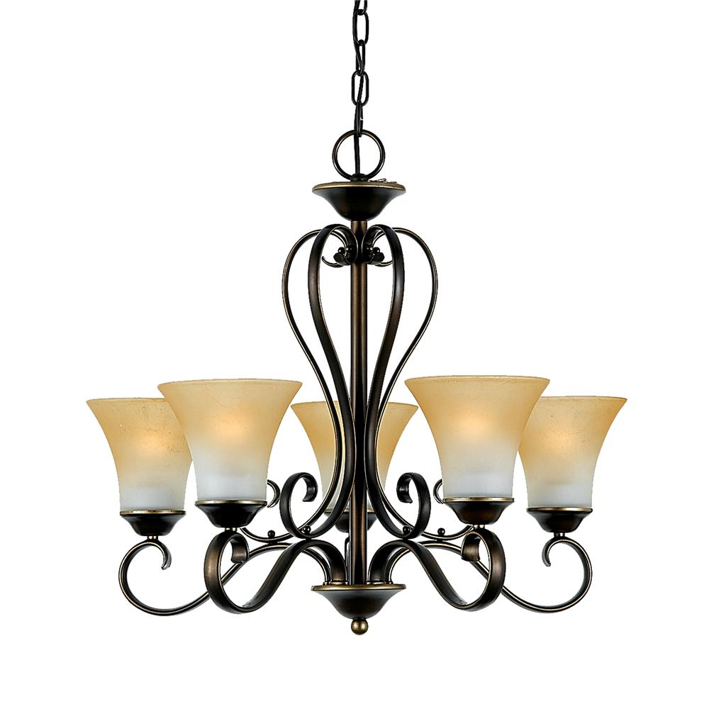 Quoizel Lighting DH5005PN Duchess Chandelier in Palladian Bronze
