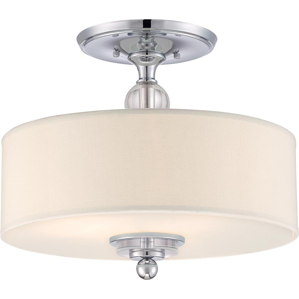 Quoizel Lighting DW1717C Downtown Semi-Flush Mount in Polished Chrome