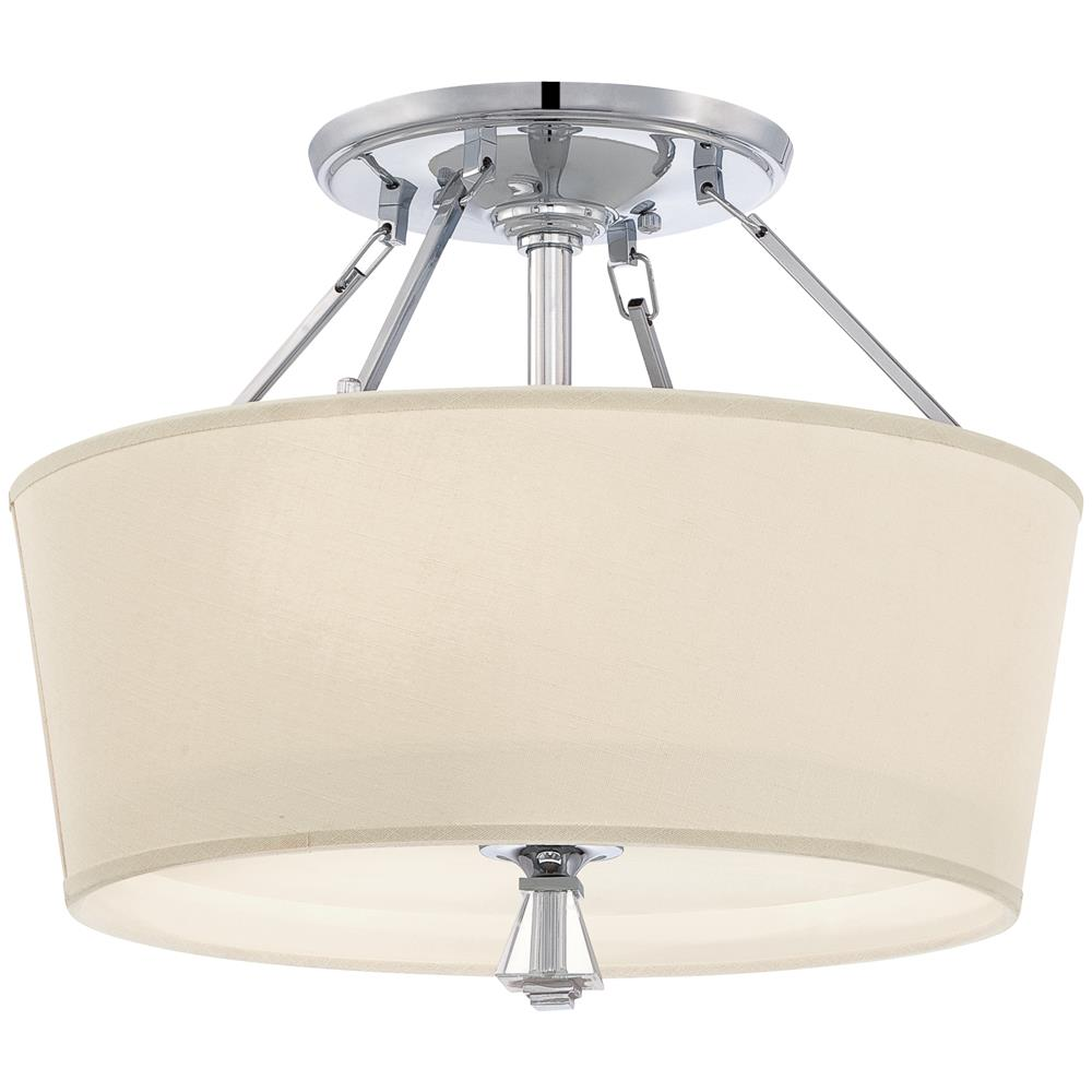 Quoizel Lighting DX1718C Deluxe Semi-Flush Mount in Polished Chrome