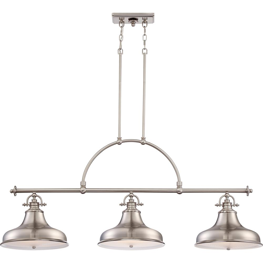 Quoizel Lighting ER353BN 3 Light Emery Island Light in Brushed Nickel