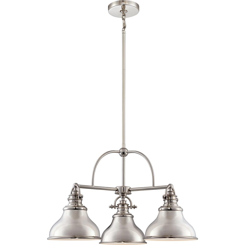 Quoizel Lighting ER5103IS 3 Light Emery Chandelier in Imperial Silver