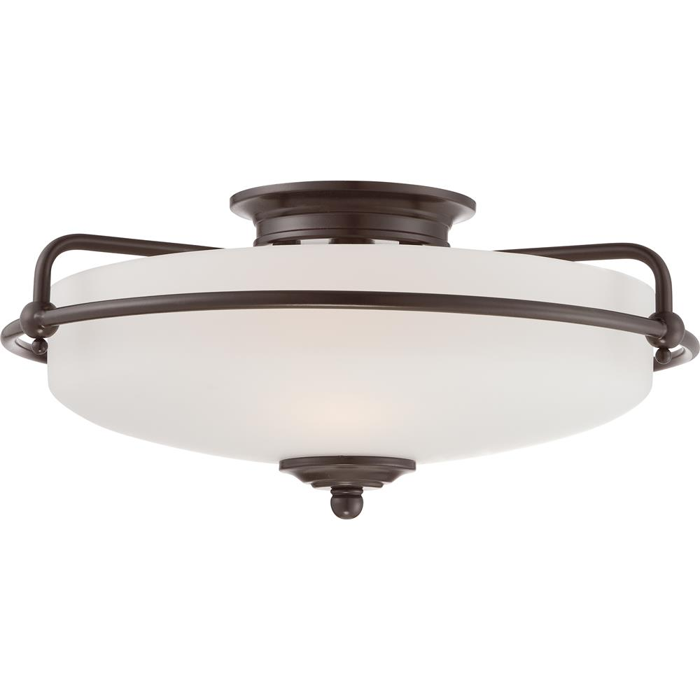 Quoizel Lighting GF1617PN Griffin Flush Mount in Palladian Bronze