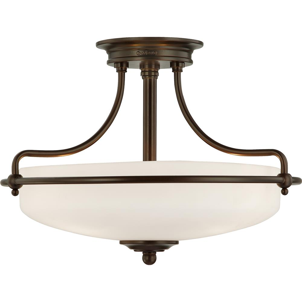 Quoizel Lighting GF1717PN Griffin Semi-Flush Mount in Palladian Bronze