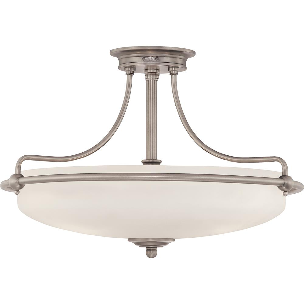 Quoizel Lighting GF1721AN Griffin Semi-Flush Mount in Antique Nickel
