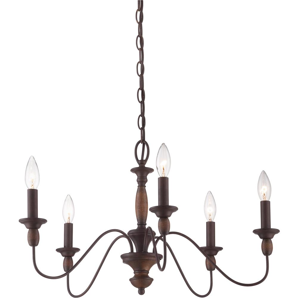 Quoizel Lighting HK5005TC Holbrook Chandelier in Tuscan Brown