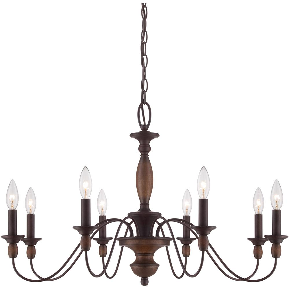 Quoizel Lighting HK5008TC Holbrook Chandelier in Tuscan Brown