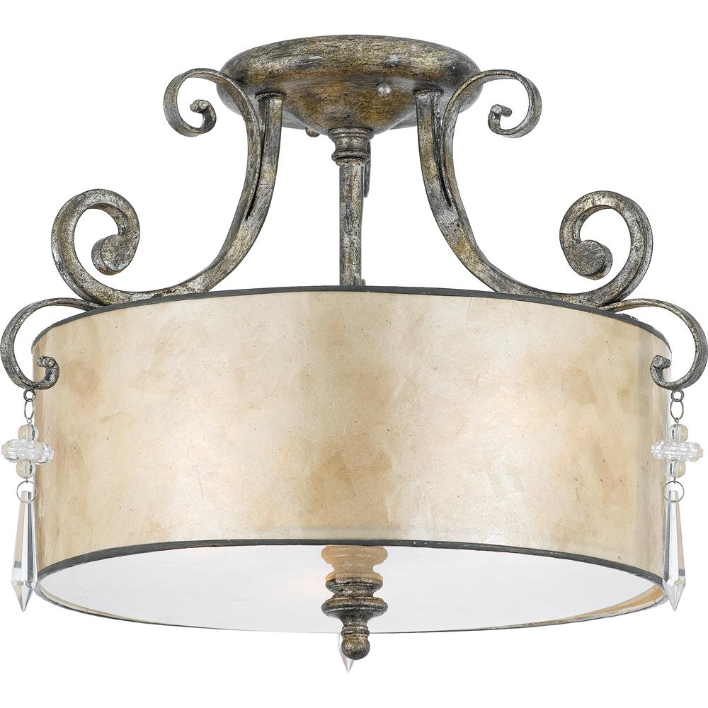 Quoizel Lighting KD1716MM Kendra Semi-Flush Mount in Mottled Silver