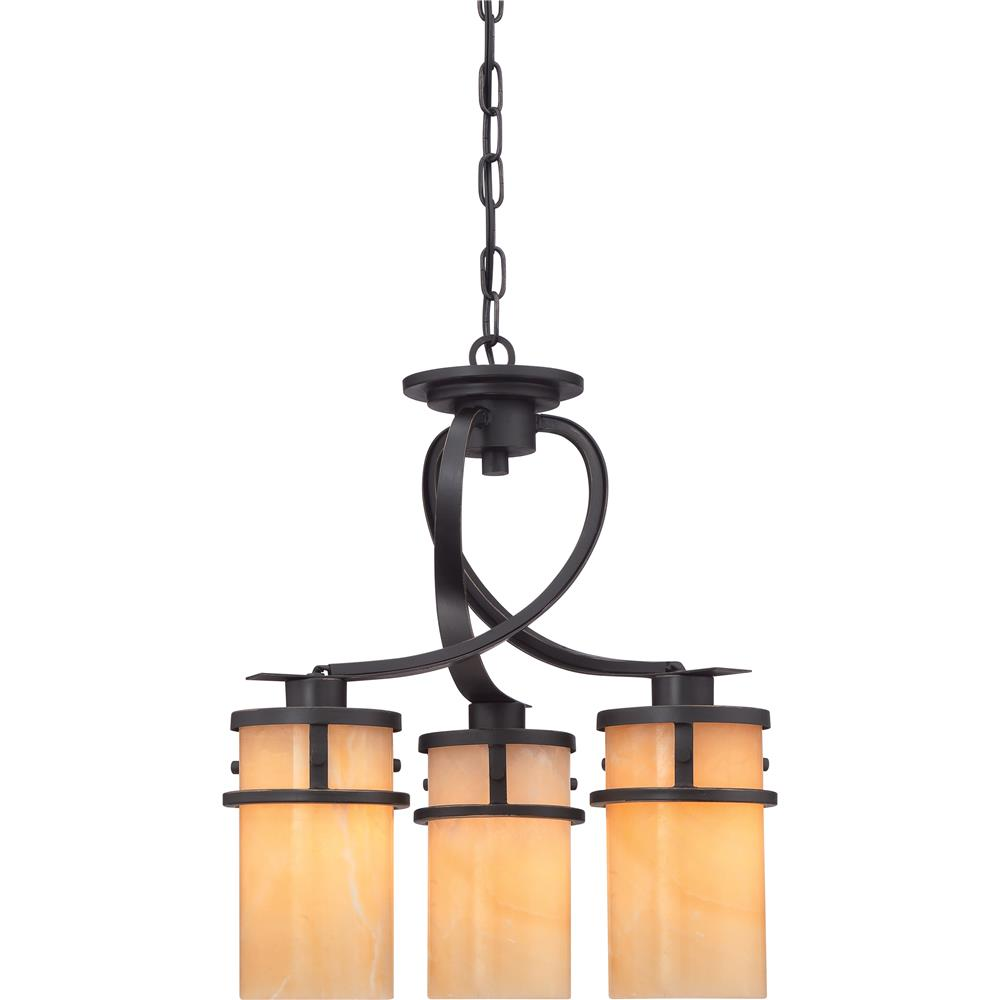 Quoizel Lighting KY5503IB 3 Light Kyle Chandelier in Imperial Bronze