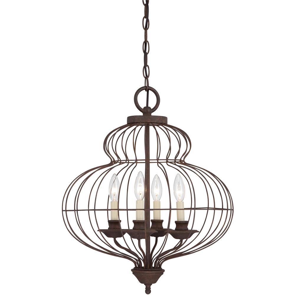 Quoizel Lighting LLA5204RA Laila Chandelier in Rustic Antique Bronze