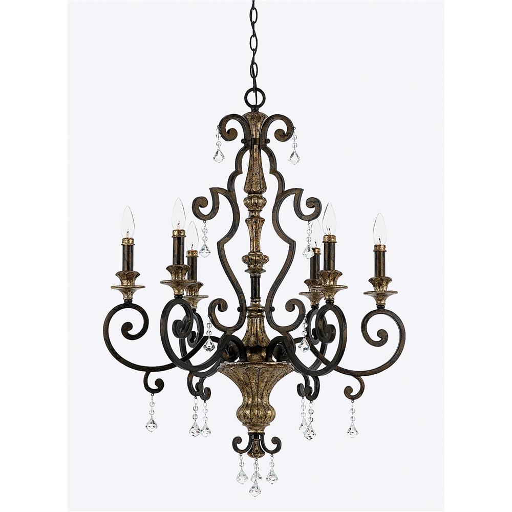 Quoizel Lighting MQ5006HL Marquette Chandelier in Heirloom