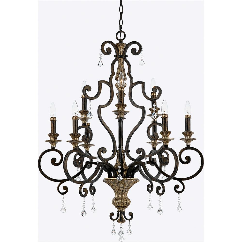 Quoizel Lighting MQ5009HL Marquette Chandelier in Heirloom