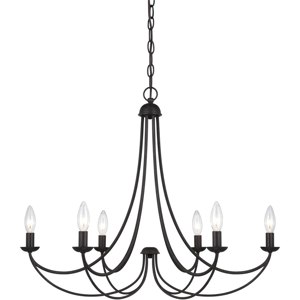 Quoizel Lighting MRN5006IB Mirren Chandelier in Imperial Bronze