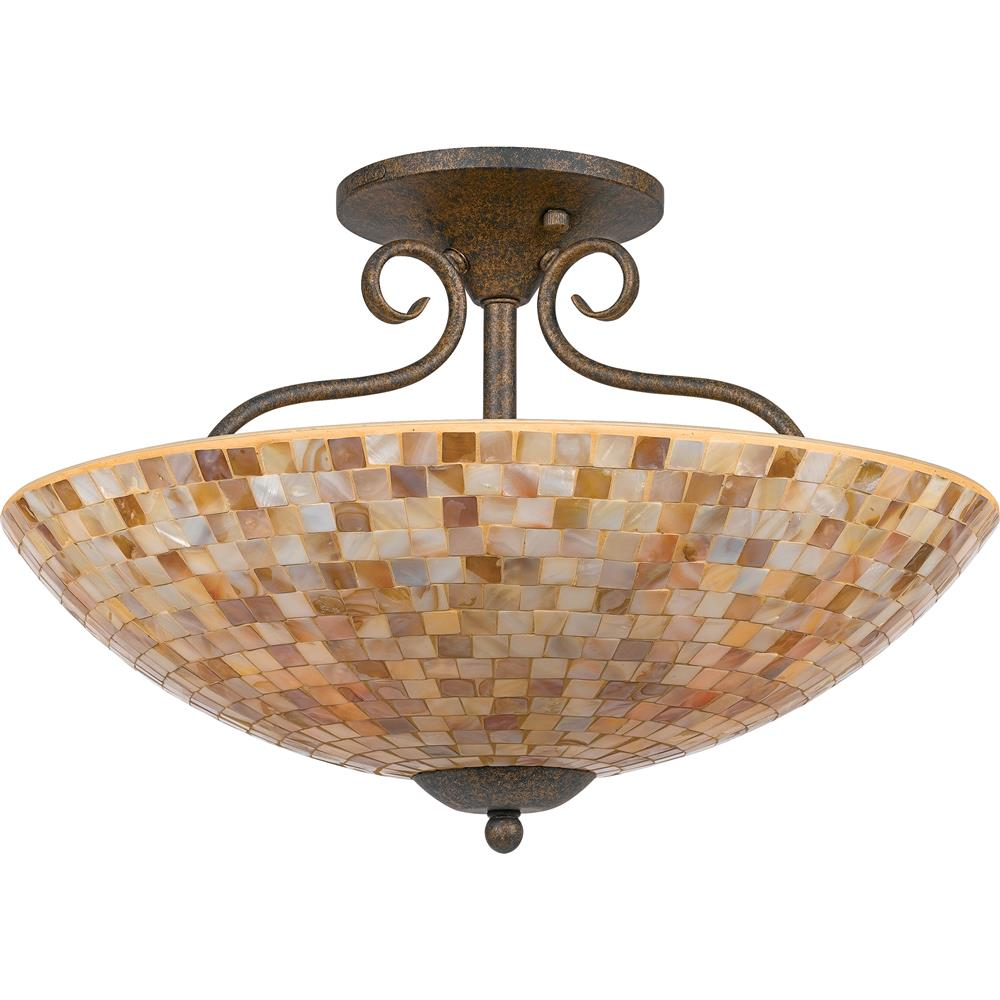 Quoizel Lighting MY1718ML Monterey Mosaic Semi-Flush Mount in Malaga