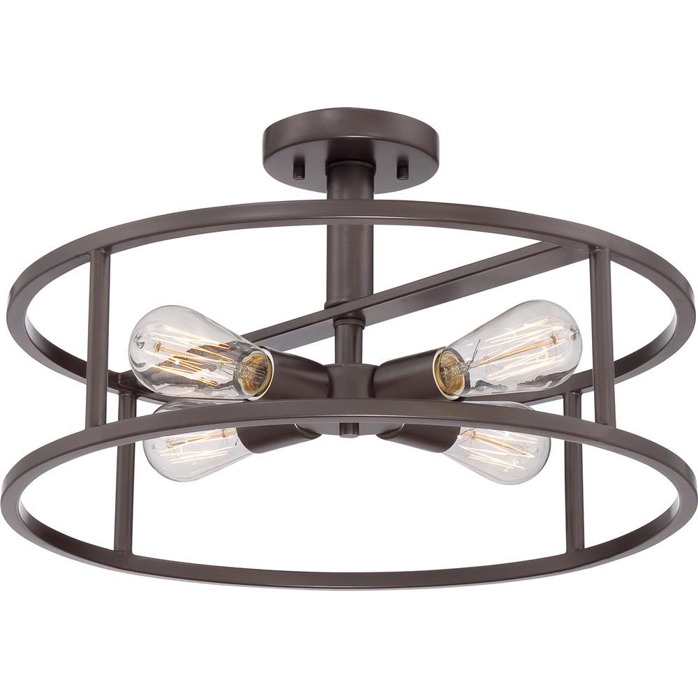 Quoizel Lighting NHR1718WT New Harbor Semi-Flush Mount in Western Bronze