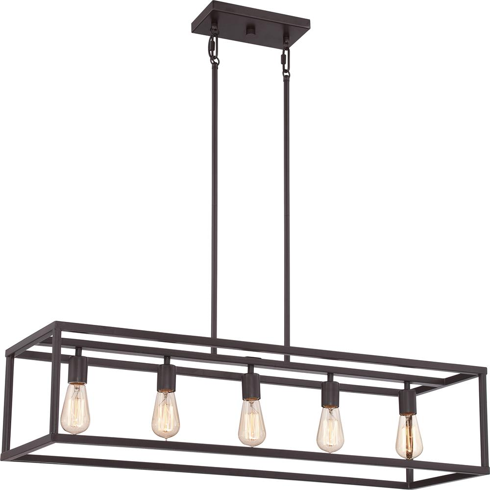 Quoizel Lighting NHR538WT New Harbor 5 Light Island Chandelier in Western Bronze