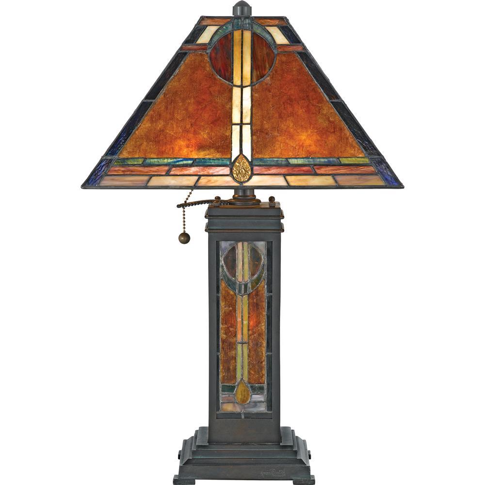 Quoizel Lighting NX615TVA San Gabriel Table Lamp in Valiant Bronze