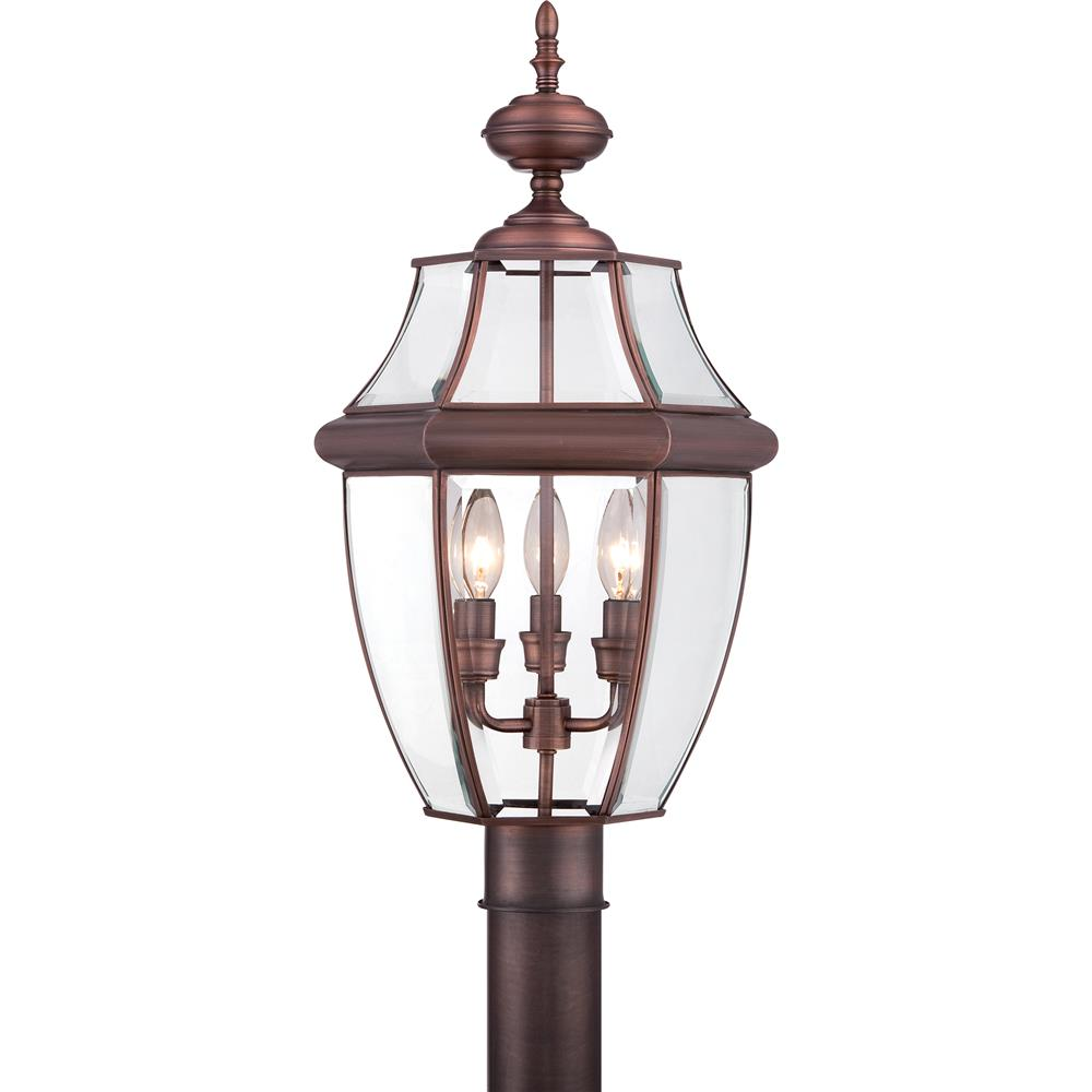 NY9043AC - Quoizel Lighting NY9043AC Newbury Outdoor Fixture in Aged Copper - GoingLighting