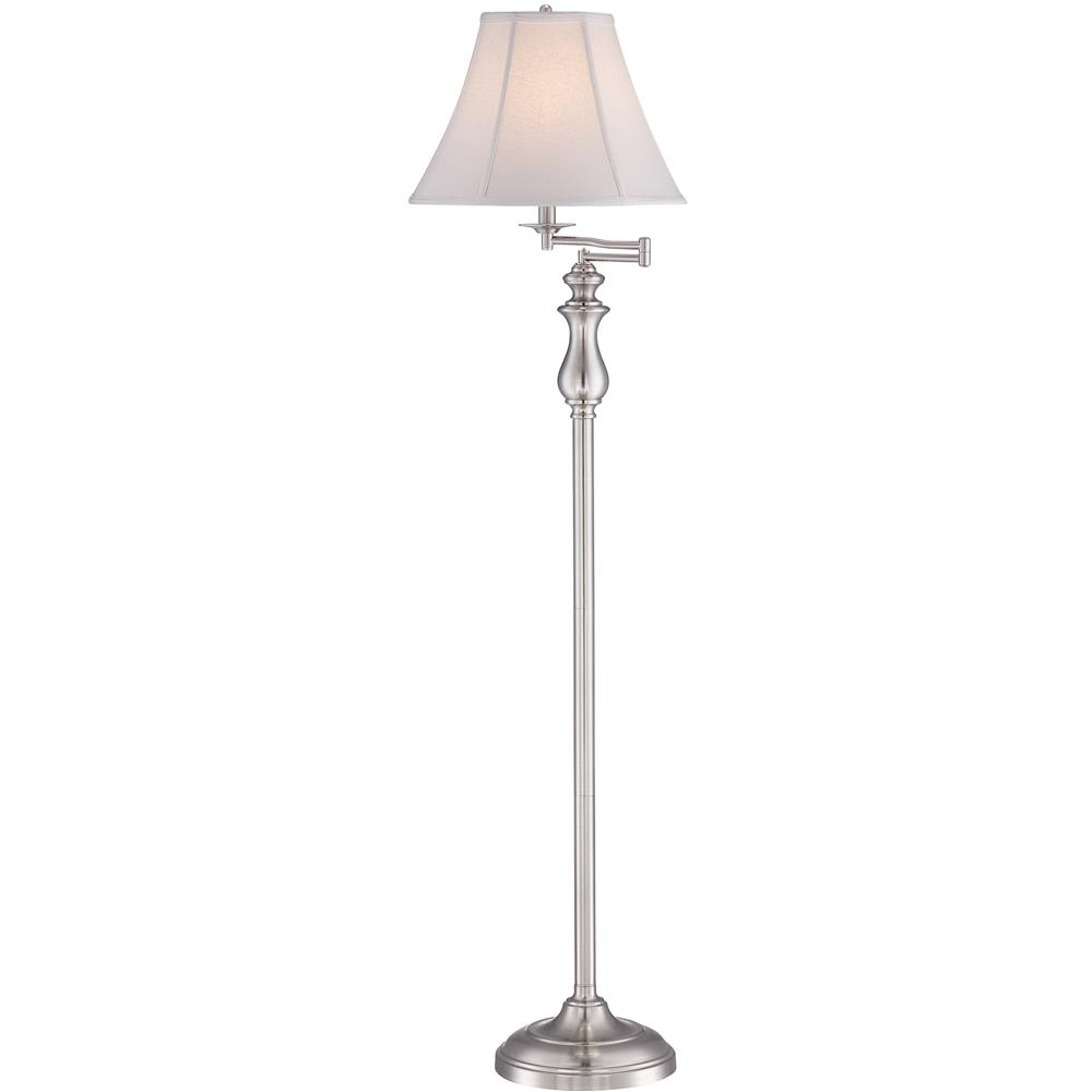 Quoizel Lighting Q1056FBN Stockton Floor Lamp in Brushed Nickel