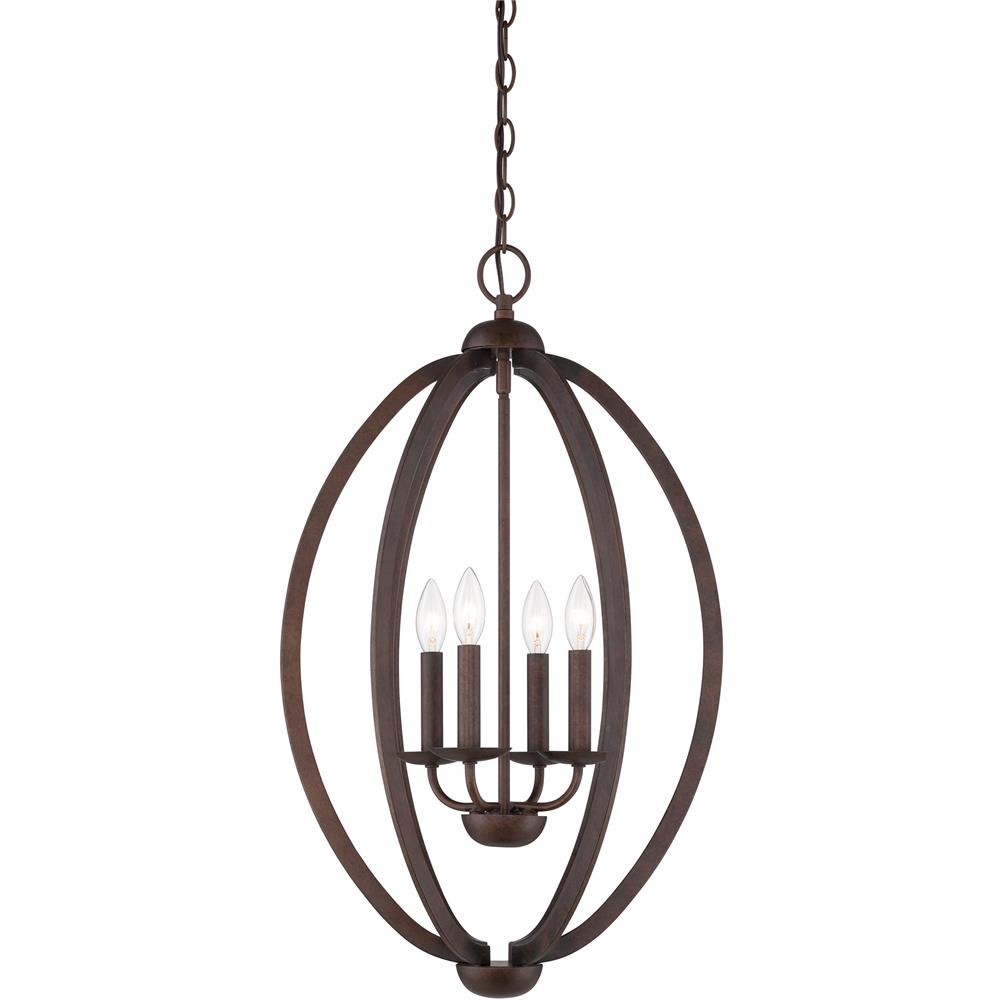 Quoizel Lighting QF1402CMU Quoizel Fixture Chandelier in Museum Bronze